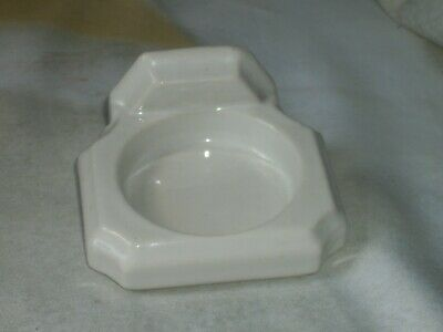 Vintage White Ceramic Bath Room Wall Mount Cup Holder For Restoration