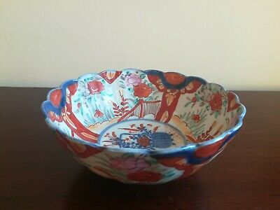 Antique Japanese Meiji Period Imari Porcelain Bowl 19th Century