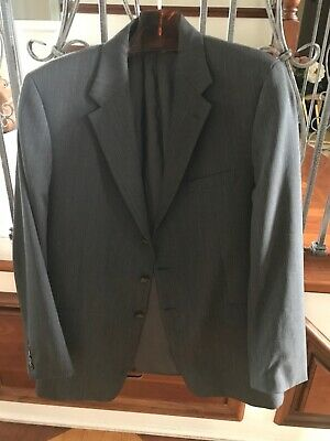 Theory Mens $895 Sport Coat 46R Gray 100% Wool Two Button Lined Vented