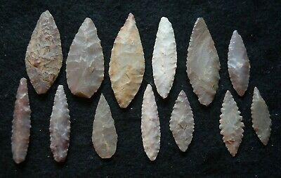 13 good Sahara Neolithic ovate tools