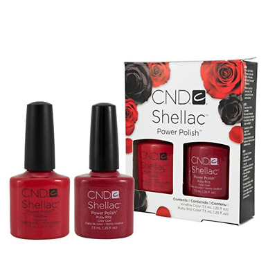 CND Shellac WILDFIRE & RUBY RITZ  Limited Edition DUO GIFT Set GEL Polish