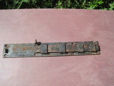 "Vintage Cast Iron Slide Latch Barrel Bolt 12 x 1 3/4"" shutter latch  & keeper"