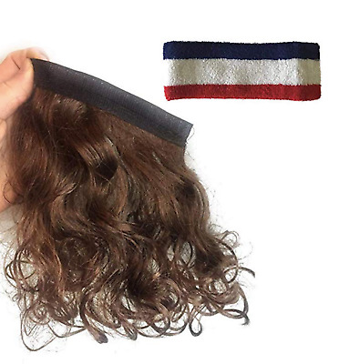 Mullet Headband Hill billy Willie Free bird Wig Costume. Add Hair to Anything!