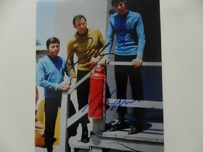 "William Shatner Leonard Nimoy ""Captain'"" 8x10 Signed Photo Auto"