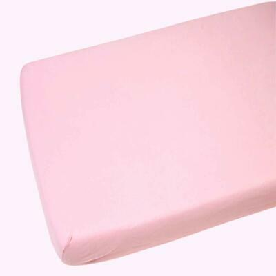 2x Moses Basket Fitted Sheets 100% Cotton Pink