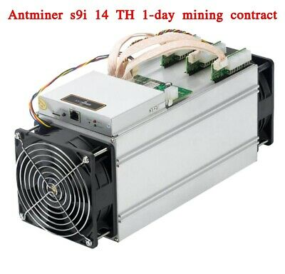 24 Hours BITCOIN BTC Mining Contract 14 TH AntMiner S9i