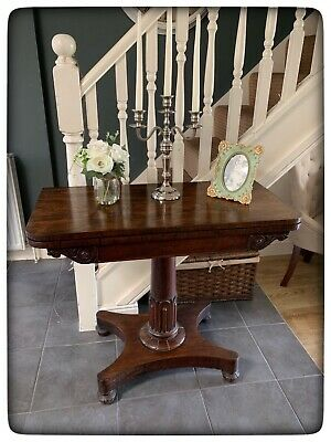Antique Victorian Rosewood Card Table