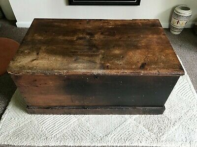 Pitch pine blanket chest box trunk for restoration