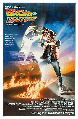 Back To The Future (1985) Original Advance Movie Poster  - Rolled  - Art By Drew