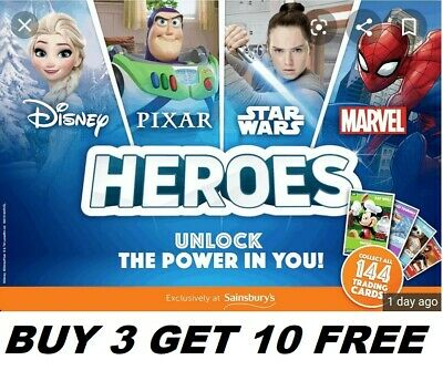 Sainsburys Heroes Cards Disney Pixar Pick Your Own Every Card Number In Stock