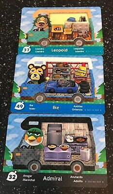 3 X Animal Crossing New Leaf Welcome Amiibo Cards Series 5 Europe Lot 37 49 32