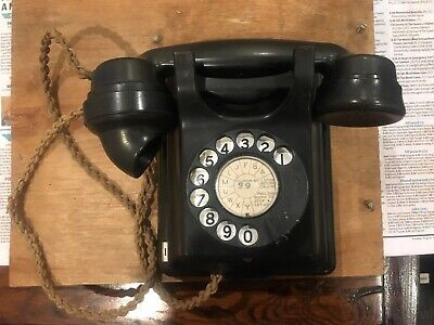 Vintage 1940's Era Wall Mount Telephone VGC