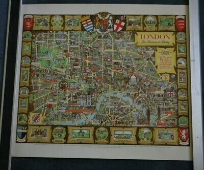 Vintage Map Of The City Of London 1946 The Bastion Of Liberty