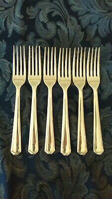 Grosvenor Delphic Entree forks x 6, Silverplate, EPNS, lovely condition