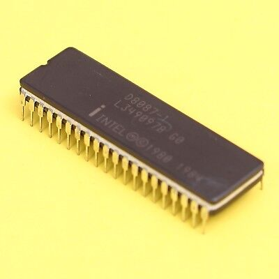 Intel 8087 10Mhz FPU Math Co-Processor *NEW* D8087-1 For 8088 8086 80186 CPU