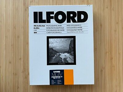 Ilford MGIV Multigrade IV RC Deluxe 8x10 Satin100 Sheets Darkroom Paper