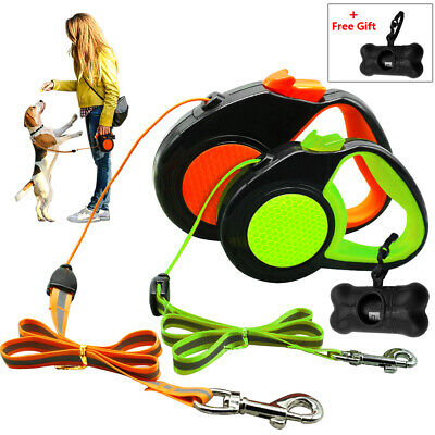 10/16ft Retractable Dog Leash Automatic Rope Safety Reflective Pet Walking Leads