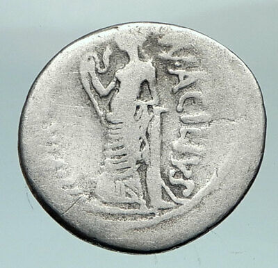 Roman Republic 49BC SALUS Asclepius Daughter DOCTOR of ROME Silver Coin i80454