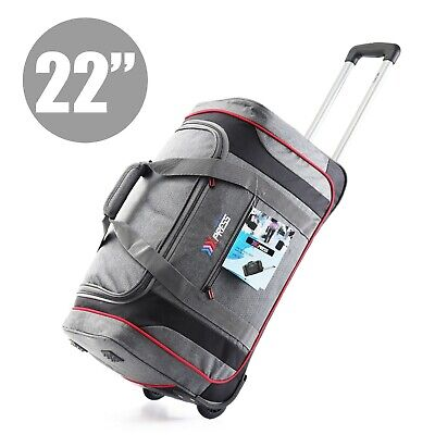 Rolling Wheeled Duffel Bag Carry On Travel Suitcase Luggage Lighweight Heavy Dut