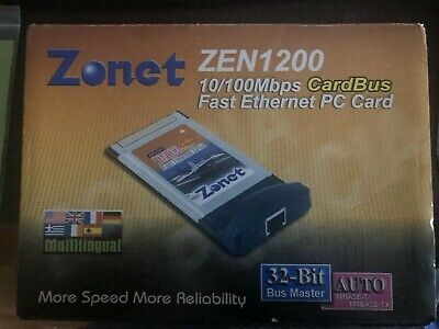 Zonet Zen1200 10/100 Mbps Cardbus Ethernet PC Card