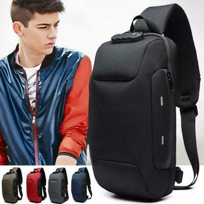 Men Shoulder Chest Bag Anti-theft Backpack Sling Waterproof Tactical Milita Top