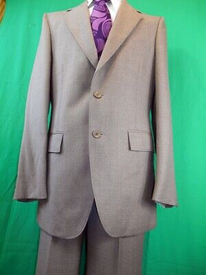Vintage 1970s Fawn Benini Wool Blend 2-Piece Suit 38 Chest 32W NEW/OLD UNWORN