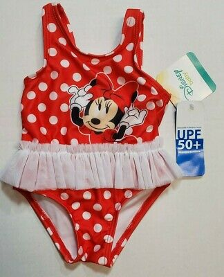 Disney Minnie Mouse Infant Girls Swimsuit newborn-24 Month Polka Dot UPF 50+ NWT