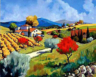 """Handpainted Landscape Oil Painting On Canvas Modern Art for home 24""""x32"""" - ZF108"""