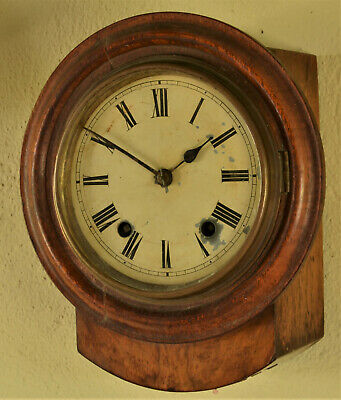RARE ANTIQUE MINIATURE WALNUT STRIKING DIAL CLOCK Winterhalder & Hofmeier