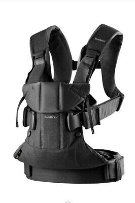 Baby Bjorn One Carrier, Black Cotton Mix, Great Condition