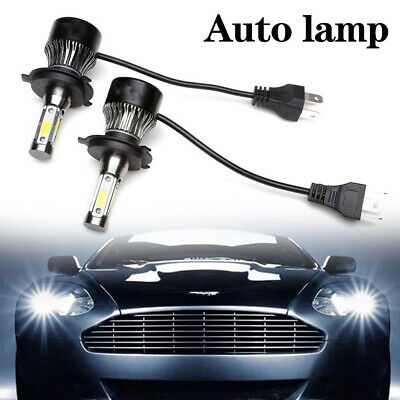 New 2019 4-Side LED H4 Headlight Car Bulbs 36000LM 300W High And Low Beam Bright