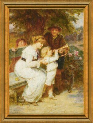 Handmade Oil Painting repro Frederick Morgan Learning to Play the Trumpet