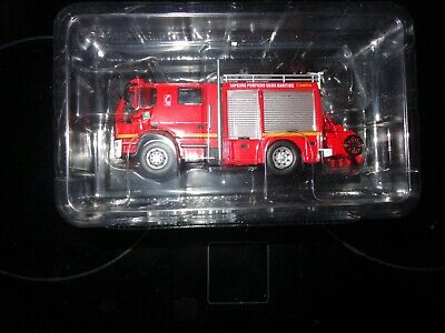 Del Prado Fire Engines Of The World 1/64  Fpt 3000 Camiva Iveco France