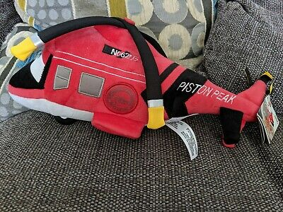 Disney store Pixar Fire & Rescue Helicopter - Soft Plush Toy Piston Peak planes