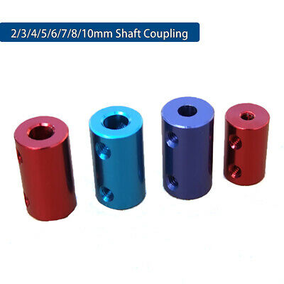 2/3/4/5/6/7/8/10mm Aluminum Shaft Coupling Rigid Coupler Motor Connector+Spanner