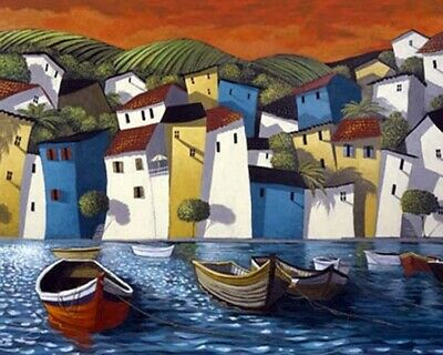 """Handpainted Landscape Oil Painting On Canvas Modern Art for home 24""""x32""""  ZF136A"""