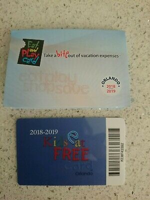 Orlando Florida discount cards 2019. Eat and play card & kids eat free cards!