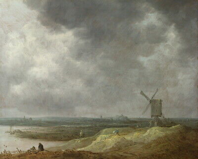 Jan Van Goyen A Windmill By A River Giclee Canvas Print Paintings Poster