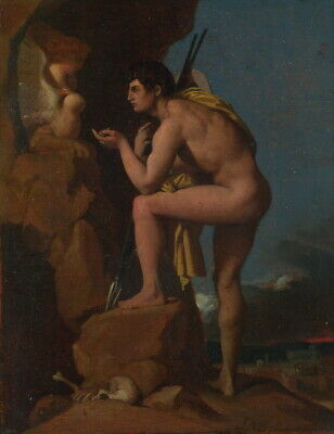 Jean Auguste Dominique Ingres Oedipus And The Sphinx Giclee Canvas Print