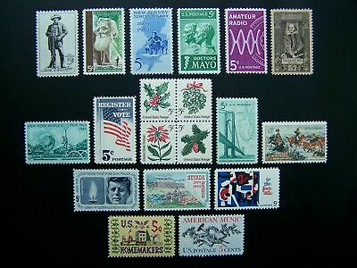 US, 1964 full Commemorative year set 19 stamps, MNH