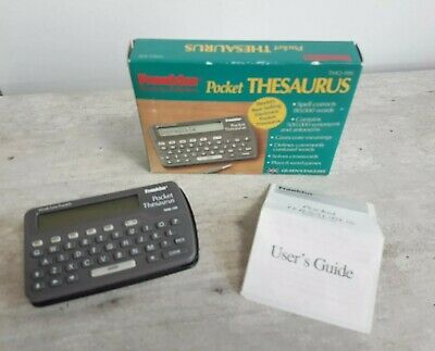 FRANKLIN TMQ-100 ELECTRONIC POCKET THESAURUS 1994 working/tested EX. Condition