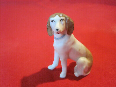 Vintage German bisque pointer retriever hound dog figurine marked Germany SP505