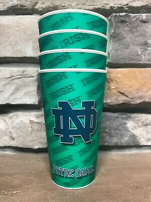 Notre Dame Fighting Irish NCAA Spiritcups 18 oz Cups Set of 4 3D Holographic