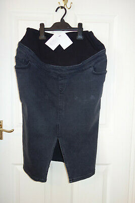 Maternity denim skirt. New with tags from New Look. Size 14. Black