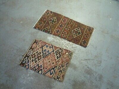 Two Old and pretty small  verneh kilim oriental rug