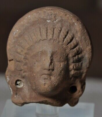 Ancient Roman-Egyptian Terracotta Female Head 1st/2nd Century AD Goddess Baubo