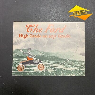 "Vintage 1903 ""The Ford"" High Grade On Any Grade Information Booklet Reprint"