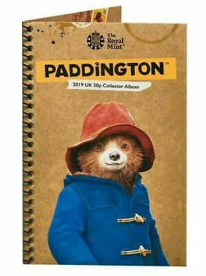 2019 Paddington Bear Coin Collector Album - With Tower of London 50p & St Paul's