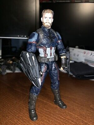 Marvel Legends Captain America Infinity War Custom Head and 2 retractable shield