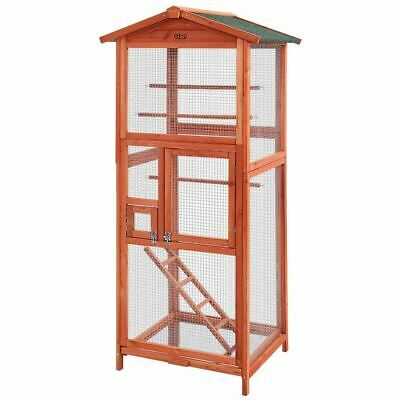 i.Pet Bird Cage Wooden Pet Cages Aviary Large Carrier Travel Canary Cockatoo Par